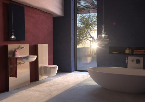 Geberit Sanitary Modules - Copyright Geberit (Photo: Dassault Systèmes)