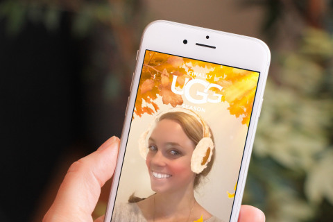 #UGGseason custom Snapchat lens (Photo: Business Wire)