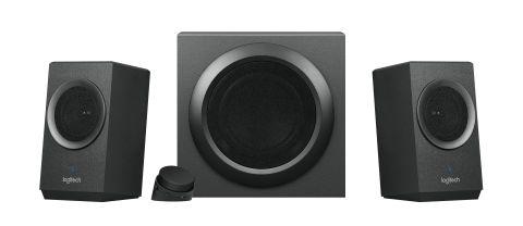 Stream audio wirelessly with the new Logitech Z337 Bold Sound with Bluetooth® speaker. (Photo: Busin ...