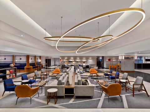 The Hub at Le Méridien Etoile – Le Méridien reinterpretation of traditional lobby. (Photo: Business  ...