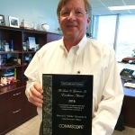 Eddie Edwards, president and chief executive officer, CommScope, Inc., was presented with the 2016 Louis V. Gerstner, Jr. Excellence Award by the global alternative asset manager The Carlyle Group. (Photo: Business Wire)