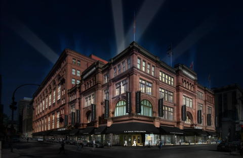An artist rendering of the newly renovated Hudson's Bay store in Montreal. (Photo: Business Wire)