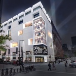 An artist rendering of the exterior of the new Saks Fifth Avenue store in Montreal.   (Photo: Business Wire)