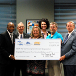 The Community Enrichment Organization of Batesville, Arkansas, was awarded an $18,500 grant on September 21, 2016, from First Community Bank, FNBC Bank, and the Federal Home Loan Bank of Dallas to help homeless citizens in Batesville. (Photo: Business Wire)
