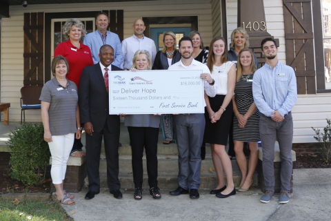 Deliver Hope today received a $16,000 Partnership Grant Program award from First Service Bank and the Federal Home Loan Bank of Dallas at a check presentation ceremony. (Photo: Business Wire)