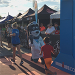 Nearly 400 kids crossed the finish line at this evening's UnitedHealthcare IRONKIDS Chattanooga Fun Run presented by Sunbelt Bakery at Ross's Landing. UnitedHealthcare mascot Dr. Health E. Hound; Paul Banick, M.D., senior medical director, UnitedHealthcare Community & State (blue shirt); and Sen. Bo Watson (right), kicked off the fun run, where every young athlete received a finisher's medal. This is the fifth year UnitedHealthcare is sponsoring IRONKIDS races in the United States (Video: Dana Coleman).