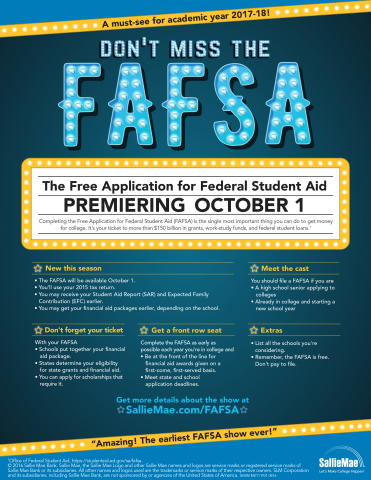 Sallie Mae's FAFSA Tips (Graphic: Business Wire)