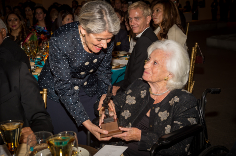 Irina Bokova (left) and Marion Wiesel (right) (Photo: Business Wire)