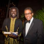 Emmanuel Jal (left) and Herbie Hancock (Photo: Business Wire)