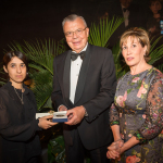 (left - right) Nadia Murad (Honoree), Yuri Fedtov (Executive Director, United Nations Office on Drugs and Crime), Catherine Reynolds (Founder and CEO, Catherine B. Reynolds Foundation) (Photo: Business Wire)