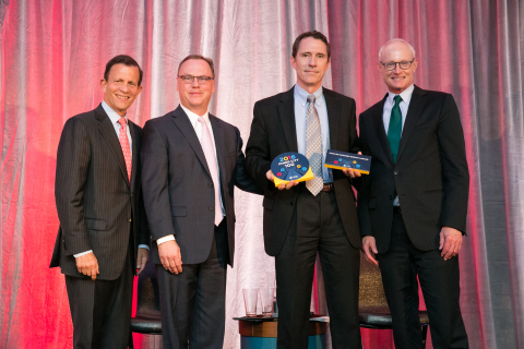 Featured (from left to right): Steve Grossman, CEO, ICIC, Kevin Moss, Senior Vice President, Staples ...