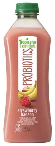 Tropicana Probiotics Strawberry Banana 32oz (Photo: Business Wire)