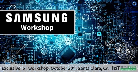 Exclusive hands-on Samsung Workshop taking place on October 20th at the IoT Tech Expo in Santa Clara ...