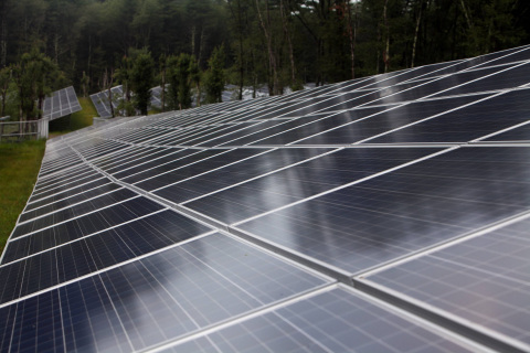 NRG has broken ground on its first community solar sites in Minnesota. Pictured here: one of the com ...