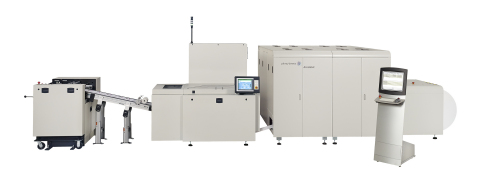 The AcceleJet printing and finishing system from Pitney Bowes (Photo: Business Wire)