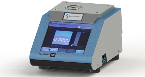 The FerroCheck portable magnetometer from Spectro Scientific provides accuracy and convenience in measurement of total ferrous wear particulates in lubricating fluids. FerroCheck enables users to perform accurate measurements of ferrous wear particles, both in the field, and in the lab where it can be used to analyze gearbox, transmission and other fluids in fleet and industrial maintenance applications. (Photo: Business Wire)