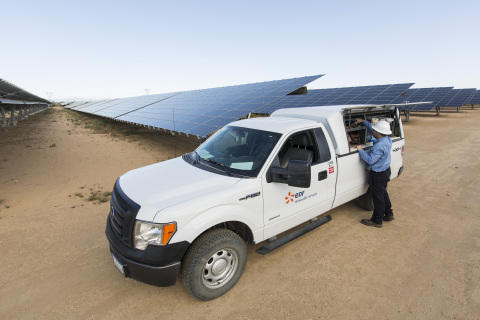 EDF Renewable Services provides operations and maintenance services to over 1 GW of solar throughout North America. (Photo: Business Wire)