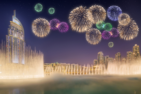 New Year's Eve Fireworks in Dubai (Photo Credit: © Boule13 | Dreamstime.com)