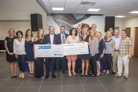 Ramsey Auto Group and Subaru of America Executives Present $100,000 Donation to REED Academy Officials (Photo: Business Wire)