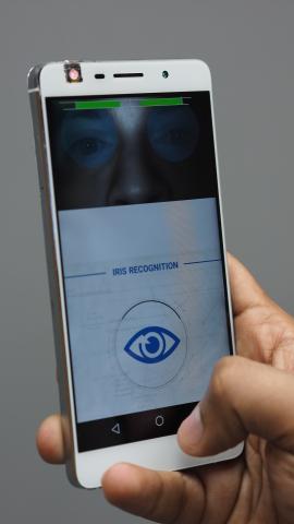 FotoNation's MIRLIN(R) Iris Recognition App (Photo: Business Wire)