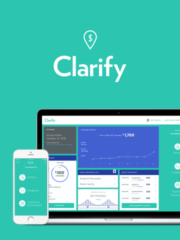 Sequence reveals new prototype service, Clarify, which brings transparency, accuracy and simplicity to health care payment and billing. (Graphic: Business Wire)