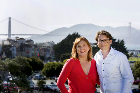 Barbara Bates, CEO, USA and Brendon Craigie, Global CEO at Hotwire PR celebrate the acquisition of E ...