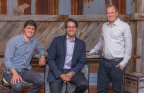 Drizly's Co-founders (pictured left to right Cory Rellas, Nick Rellas and Justin Robinson) (Photo: Business Wire)