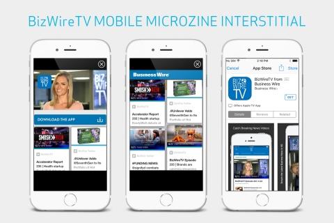 Business Wire's new BizWireTV Microzine from Zumobi. (Photo: Business Wire)