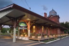 Located in a beautifully restored train station built in 1875, the Green Mountain Coffee Café and Visitor Center opened its doors to the Waterbury, Vermont community in 2006. (Photo: Business Wire)