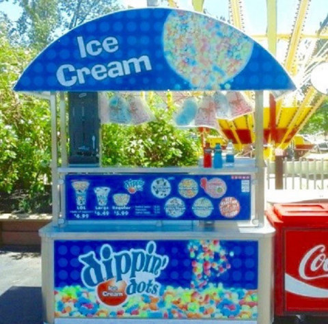 Premier Parks and Dippin' Dots renew partnership with three-year contract. Dippin' Dots fans can enjoy their favorite flash-frozen beaded ice cream in 11 of the 12 parks via carts, kiosks and general stores. (Photo: Business Wire)