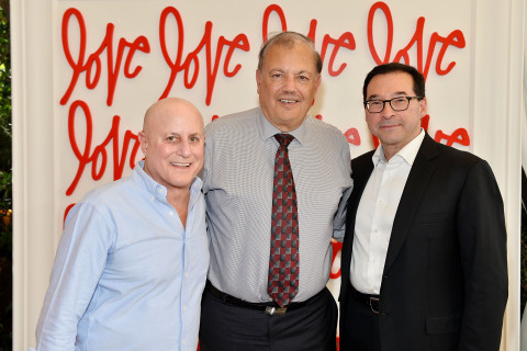 Revlon Chairman Ronald O. Perelman, Dr. Dennis J. Slamon and Revlon CEO Fabian Garcia attend Revlon's Annual Philanthropic Luncheon in support of the Revlon Women's Health Mission and to honor the achievements of Dr. Dennis J. Slamon in Los Angeles. (Photo: Business Wire)