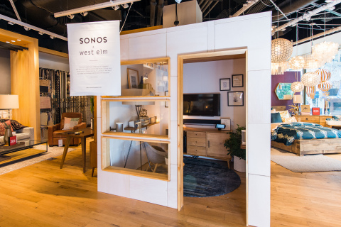 West Elm and Sonos Listening Lab (Photo: Business Wire)