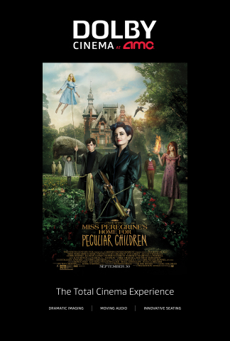 """""""Miss Peregrine's Home for Peculiar Children"""" opens in Dolby Cinema at AMC on September 30, 2016 (Graphic: Business Wire)"""