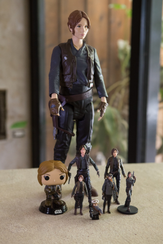 """Highlights of new """"Jyn Erso"""" toys from """"Rogue One: A Star Wars Story."""" These new toys and many more products inspired by """"Rogue One: A Star Wars Story"""" launched globally at retail on September 30, 2016. (Photo: Business Wire)"""