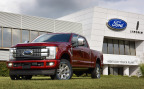 Ford officially welcomed the all-new 2017 Ford F-Series Super Duty – the toughest, smartest and most capable Super Duty pickup and chassis cab lineup ever – to Kentucky Truck Plant today with Joe Hinrichs, Ford president of The Americas, Congressman John Yarmuth of Kentucky's 3rd District, Greg Poet of the UAW National Ford Department, Nate Berges, Ford Super Duty Insider Program participant, and several hundred Ford employees. (Photo: Business Wire)