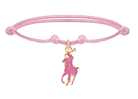 Limited-edition Pink Pony Bracelet benefiting the Pink Pony Fund of The Ralph Lauren Foundation (Pho ...