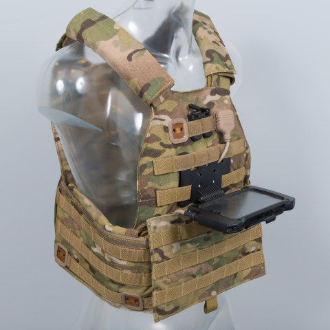 BAE Systems' Broadsword® Spine® is a revolutionary piece of new wearable technology that has been designed as an alternative to heavy portable data and power supplies currently carried by military and emergency service personnel. (Photo: BAE Systems)