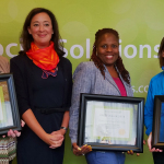 From left to right: Holly Huillet from Friends of the Children, CEO of Social Solutions Rachel Arnold, Kimberly Williams-Rivera from Connecticut Council of Family Services Agencies, and Dianne Benjamin from ARCHS (Photo: Business Wire)