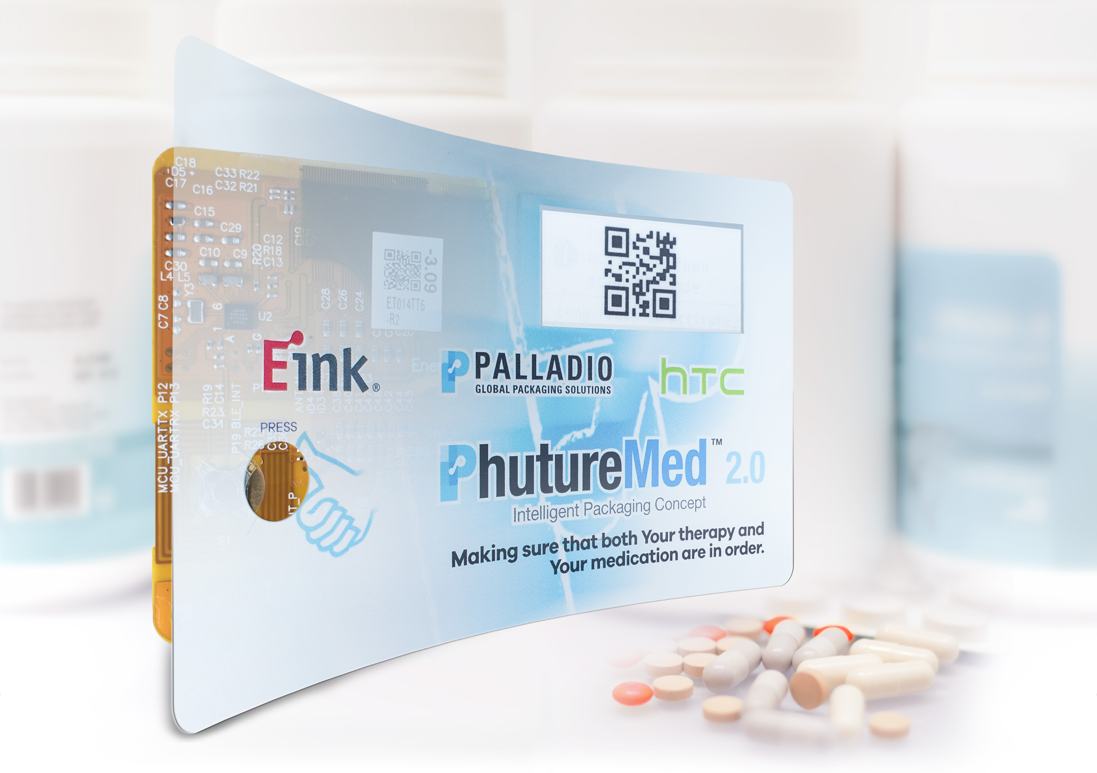 E Ink, HTC and Palladio Collaborate to Develop Smart Packaging Label for IoT-based Healthcare Services (Graphic: Business Wire)