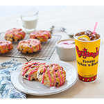 Now through October 30, participating Bojangles' restaurants will stripe their signature Bo-Berry Biscuits with sweet icing in a lovely shade of pink (Photo: Bojangles').