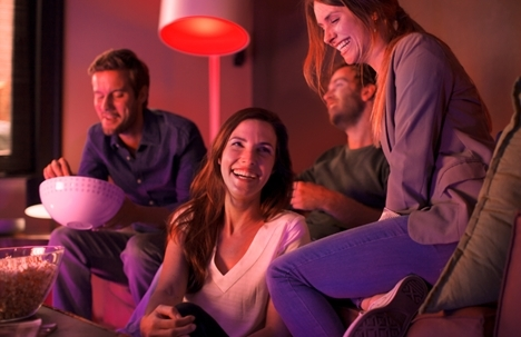 """""""My team is playing tonight. Ok Google set the living room lights to red"""" (Photo: Business Wire)"""