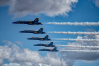 The U.S. Navy Blue Angels on October 2, 2016 at the California Capital Airshow. Photo Courtesy of Tim Engle, EnglePhoto.com