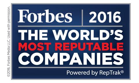 « Bacardi Limited a une fois de plus été nommée parmi les sociétés les plus réputées au monde, selon la liste annuelle Global RepTrak® 100 établie par le Reputation Institute et publiée dans Forbes. À la 92e place, c'est la troisième année consécutive que l'entreprise familiale Bacardi figure sur la liste mondiale des Sociétés les plus réputées au monde. »