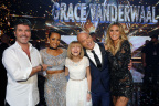Season 11 America's Got Talent Winner Grace VanderWaal with Judges Simon Cowell, Mel B, Howie Mandel and Heidi Klum (Photo: Business Wire)