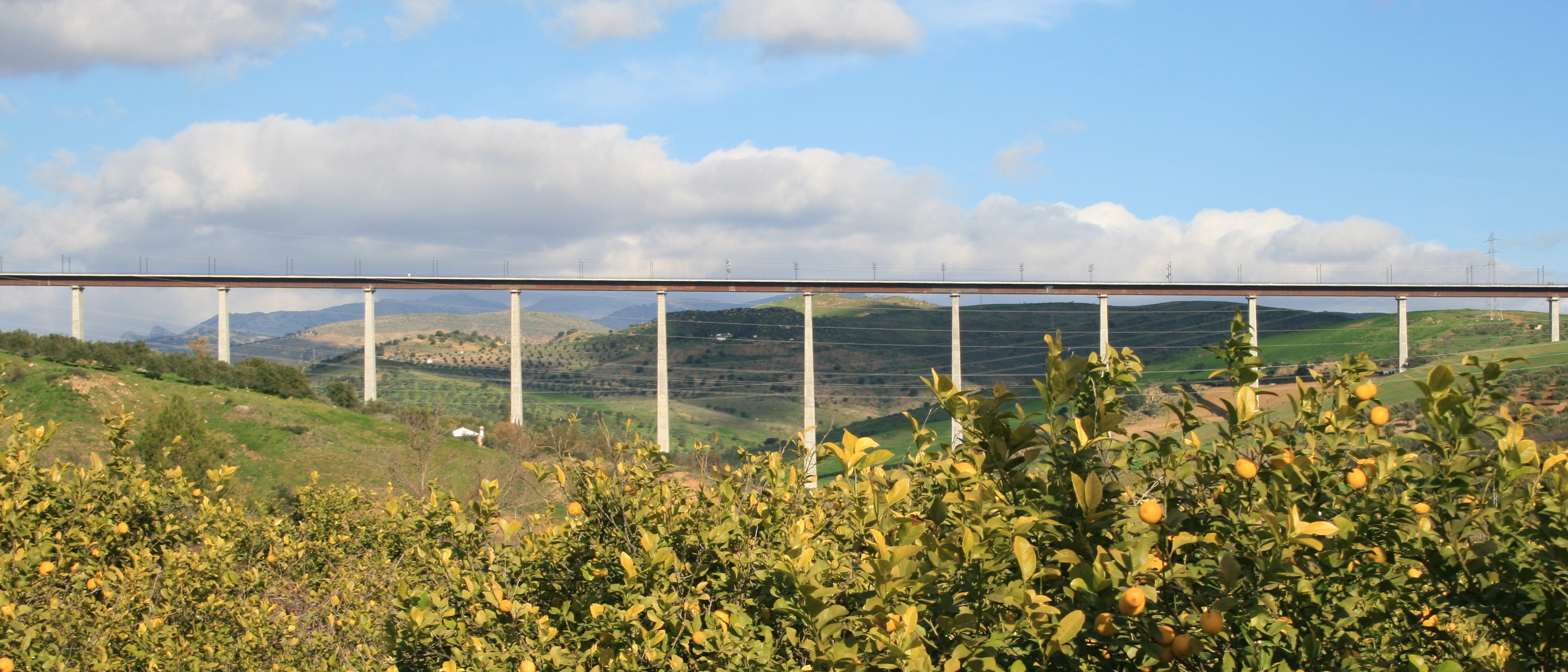 Las Piedras Viaduct in Málaga, Spain (Photo: Business Wire)