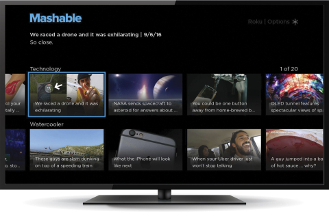 Mashable channel - launched with Roku Direct Publisher (more examples available from https://newsroom ...