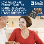 Analog Devices' Low Power AFE Enables Smaller, Lighter Wearable Health Devices with Longer Battery Life (Photo: Business Wire)