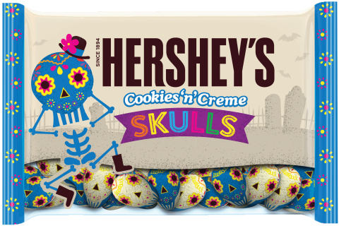 Create your own Día de los Muertos celebration with ghoulish treats delicious enough to wake the dead, like new Hershey's Cookies 'n' Crème Skulls from The Hershey Company. (Photo: Business Wire)