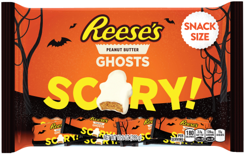 New Reese's White Peanut Butter Ghosts Snack Size from The Hershey Company are a spooky addition to any Halloween party. (Photo: Business Wire)