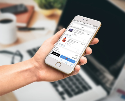 Users visiting Staples' mobile website with Safari will have the ability to check out using Apple Pay with just a finger on Touch ID, with no need to manually fill out lengthy account forms or repeatedly type in shipping and billing information. (Photo: Business Wire).